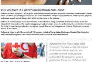 Strategy on Violence Prevention, Mitigation and Response – Fact Sheet