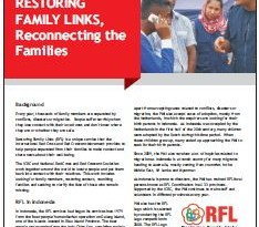 Restoring family links, reconnecting the families