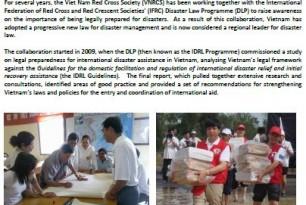Vietnam champions disaster law