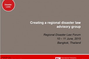 Creating a regional disaster law advisory group at Regional Disaster Law forum 2015