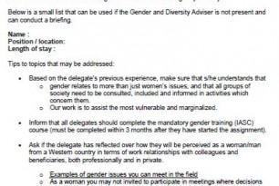 Gender and Diversity Brief