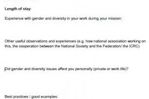 Gender and Diversity Debrief
