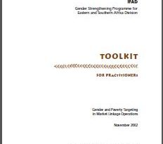 Gender Strengthening Programme for Eastern and Southern Africa Division: Toolkit for Practitioners