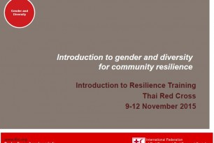 Introduction to gender and diversity for community resilience