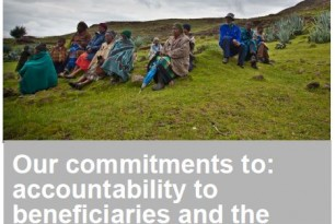 Our Commitments to: Accountability to Beneficiaries and the Communities where We Work