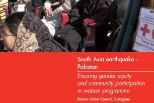 South Asia Earthquake – Pakistan: Ensuring Gender Equity and Community Participation in Watsan Programme
