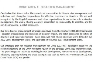 Cambodia Strategic Direction 1: Contributing to saving lives and building resilience to disasters and crises (Cambodia Red Cross)
