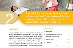 Strengthening the Human Resource Base at Township Level: Ensuring more Effective Implementation of Community-based Disaster Risk Reduction Initiatives