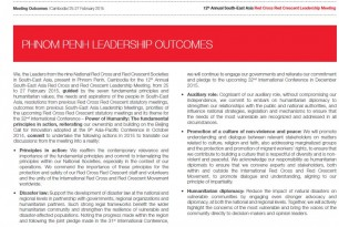 12th Annual South-East Asia Red Cross Red Crescent Leadership Meeting