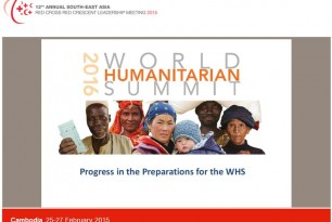 World Humanitarian Summit (WHS) – Progress in the Preparations for the WHS