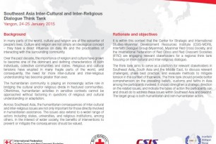 Regional Interreligious and Intercultural Dialogue January 2015