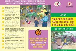 Leaflet on health education and health care capacity building for mothers and children