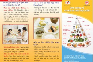 Leaflet on Nutrition and food safety