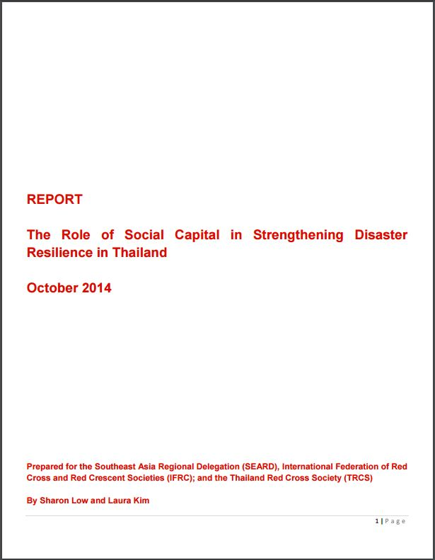 The role of social capital in strengthening disaster resilience in Thailand
