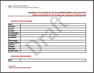 BCA Institutional Assessment Methodology