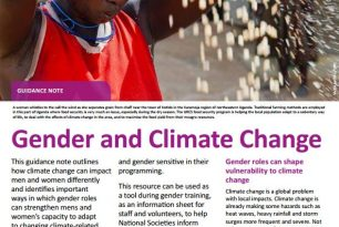 Gender and Climate Change. Guidance note