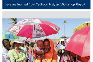 What Works in Addressing Violence against Women and Girls: Lessons Learned from Typhoon Haiyan
