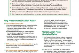 Preparing a Project Gender Action Plan