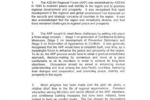 Preventive Diplomacy Mechanisms – ASEAN Regional Forum