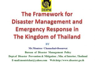 Framework for Disaster Management and Emergency Response in Thailand – ASEAN Regional Forum Disaster Relief Exercise (ARF DiRex)