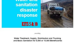 Water and Sanitation Disaster Response Manual for kits 5 & 10 – Guidelines
