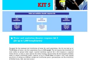 IFRC Sheets for Disaster Response Kits: Kit 5 (for 5,000 beneficiaries) – Guidelines