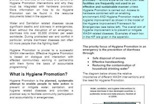 water sanitation and hygiene training manual