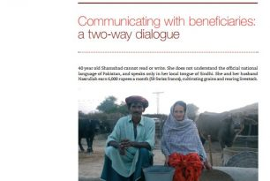 Case study 4: Pakistan: Communicating with beneficiaries: a two-way dialogue