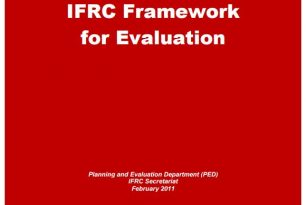 IFRC Framework for Evaluation – Planning Monitoring Evaluation Reporting
