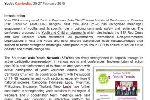 Report on Youth Development