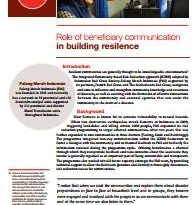 The role of beneficiary communications in building resilience