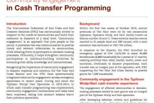 Case Study: Community Engagement for Cash Transfer Programming