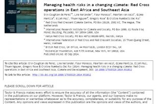 Managing health risks in a changing climate: Red Cross operations in East Africa and Southeast Asia (2014) – Coughlan de Perez, et al.
