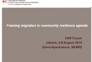 Mainstreaming migration into resilience building by Elena Nyanenkova (IFRC)