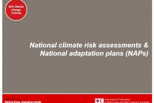 Presentation – Session 12 – Climate change adaptation training kit 2016