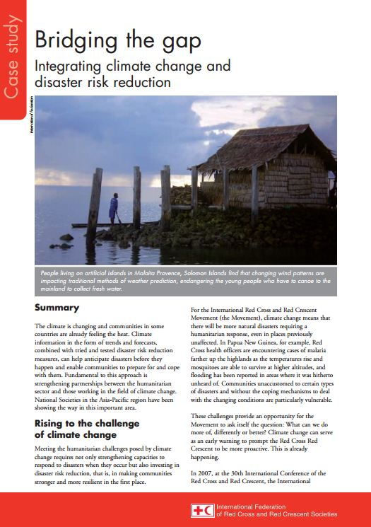 Case study: Whatever the weather - IFRC