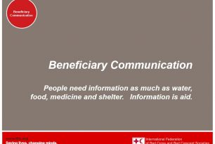 Module 2: Importance of communication with beneficiaries –  Resources on community engagement training or introduction (see 5-module powerpoint presentation)
