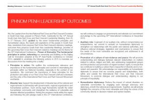 Phnom Penh Leadership Outcomes