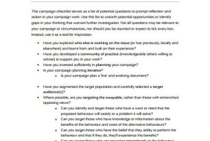 Communication campaign – checklist – Humanitarian Diplomacy and Advocacy