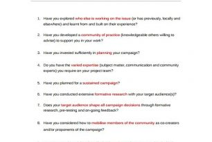 Communication campaign – top 20 questions for practitioners – Humanitarian Diplomacy and Advocacy