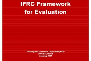 IFRC Framework for Evaluation (Planning and Evaluation Department, 2011) – Community Based Health and First Aid (CBHFA)
