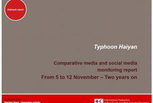 Comparative media and social media monitoring report | Typhoon Haiyan – 2 years on – Social Media
