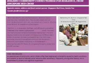 Success Story: Befriending Mr. De Silva: Building Community Connectedness for Resilience in Singapore – Singapore Red Cross