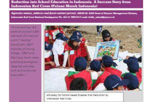 """""""Begins with Me""""- Integrating DRR into School Education  – Indonesian Red Cross (Palang Merah Indonesia) – Stories from the Field"""