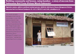 Transitional Shelter – Bamboo Houses  – Indonesian Red Cross (Palang Merah Indonesia) – Stories from the Field