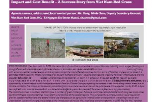 Mangrove Plantation in Viet Nam – Measuring Impact and Cost Benefit by Viet Nam Red Cross – Stories from the Field