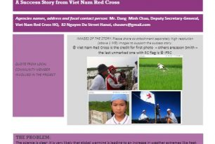 Viet Nam Red Cross Preparing for Climate Change in Viet Nam – Stories from the Field