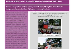 The Impact of Disaster Risk Reduction Field Sessions by Myanmar Red Cross Society – Stories from the Field