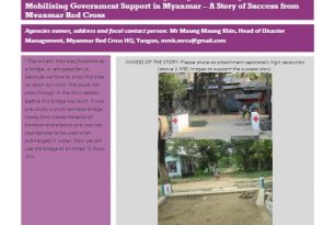 Myanmar Red Cross – Reducing Risks and Mobilizing Government Support – Stories from the Field