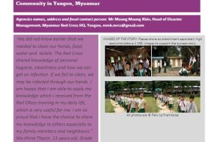 Myanmar Red Cross – Classroom Learning Empowers Students and Community – Stories from the Field